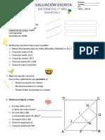 Evaluación Escrita Geometría 1