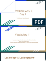 Vocabulary II - Day 1