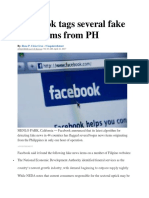 Facebook Tags Several Fake News Items From PH