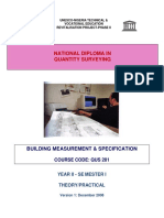 216586577 QUS 201 Building Measurement Specification Theory Practical