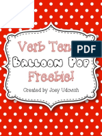 Verb Tense Balloon Pop Freebie