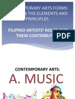 Contemporary Arts Forms