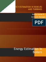 Effciency of Boilers & Turbines