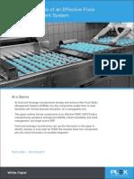 4 Elements Effective Food Safety Management WP