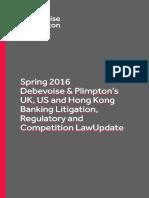 Banking Litigation Update Spring 2016 FINAL