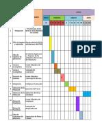 Cronograma de Actividades CIPBS