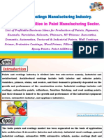 Paint and Coatings Manufacturing Industry. Project Opportunities in Paint Manufacturing Sector.-229675