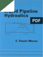 Liquid Pipeline Hydraulics (Español