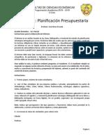 2a Trabajo autónomo - Planif. Estratégica