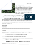 sterling pond permission slip 2018