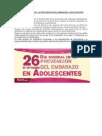 Dìa Internacional de La Prevencion Del Embarazo Adolescente