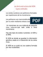 Proposiciones de La Estructura Del ADN y sintesis de proteínas
