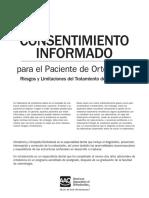 Spanish Ortho Consent