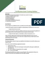 Distribution Exam Training Path Syllabus Combined
