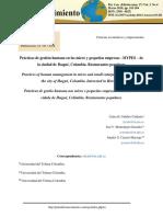 Lectura 2. Prácticas de Gestión Humana en Las Micro y Pequeñas Empesas MYPES de Ibagué, Colombia