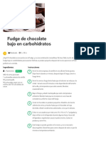 Fudge de Chocolate Bajo en Carbohidratos