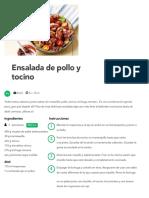 Ensalada de Pollo y Tocino