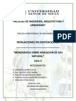 Monografia sobre Instalación de Gas Natural.(1)
