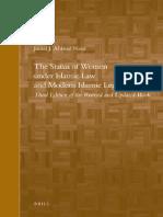 The Status of Women Under Islamic Law and Modern Islamic Legislation
