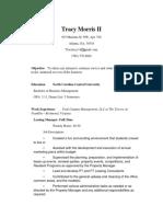 Tracy Lamont - Resume 2019