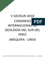 Taller Estereografía Geosur Unsa 2018