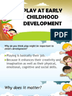 Play at Early Childhood Development