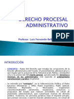 Derecho Procesal Administrativo - Pregrado 2016