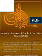 Performance of Textile Industry