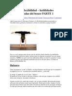 Balance y Flexibilidad – Habilidades Menospreciadas Del Boxeo PARTE 1