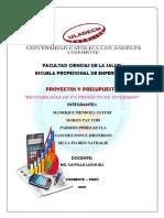 ACTIVIDAD 14-Trabajo Colaborativo-Rentabilidad de Un Proyecto de Inversión