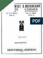 Myaskovsky Sonata No.4