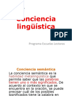 conciencia linguistica