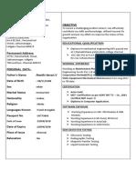 Mini Resume