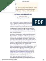 O Brasil Contra a Filosofia