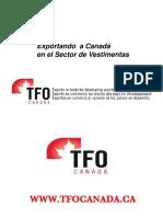 Exportando Canada Sector Vestimentas 2011 Keyword Principal
