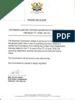 Press Release. Monday 3rd June, 2019