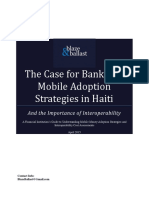 Case for Bank Led Mobile Adoption Strategies in Haiti