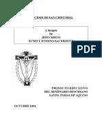 PROYECTO  EDUCATIVO DEL SEMINARIO SANTO TOMAS DE AQUINO - SAN CRISTOBAL