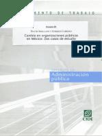 Cambio en organizaciones públicas - Cabrero