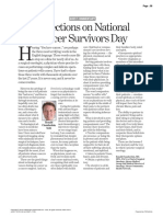 Reflections on National Cancer Survivors Day