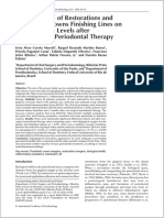 JIAP October 2011 - The Influence of Restorations and Prosthetic Crowns Finishing Lines on Inflammatory Levels After Non-surgical Periodontal Therapy
