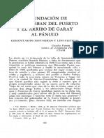 La fundación de Santiesteban del Puerto y el arribo de Garay al Pánuco