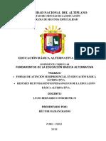 Trabajo Eba- Fundamentos de La Educación Basica Alternativa