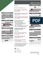 MSBA Program Calendar 2019-2020