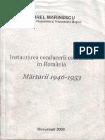 Aurel Marinescu, Instaurarea Conducerii Comuniste in Romania, Marturii (1946-1953)