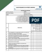 Cuestionario de Estrés Laboral Final