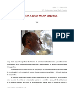 TdP. Entrevista a Josep Maria Esquirol.