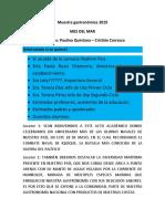 Muestra Gastronómica 2019 Libreto