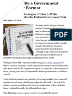 How to Write a Government Proposal & Format| Proposal Writing Training Classes