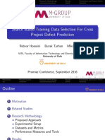 Search based training data selection for cross project defect prediction